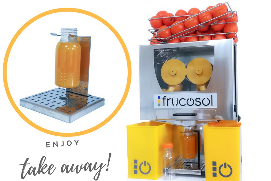 Frucosol develops a new system for filling fresh Orange juice bottles for its range of Juicers.