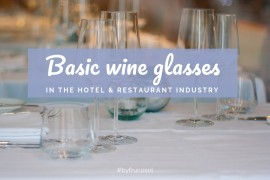 Basic glasses in the hotel & restaurant industry.